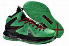 Men s Nike Lebron X Elite Green Black Basketball Shoes Size 12 95f08d663e6e