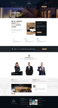 Grand – Hotel & Restaurant PSD Template is a Hotel Reservation & Restaurant PSD Template for Hotel & Restaurant business. It's a clean and beautifully designed PSD template that is an ideal fit for. Website Design Inspiration, Design Ideas, Web Layout, Layout Design, Hotel Website Design, Website Designs, Website Ideas, Web Hotel, Pag Web
