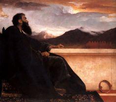 'david', huile de Lord Frederic Leighton (1830-1896, United Kingdom)