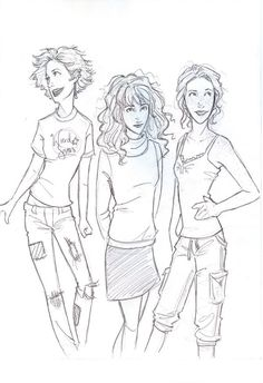 Tonks, Hermione, and Ginny!