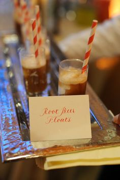 Root beer floats for cocktail hour.