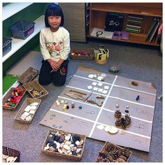 Wonders of Learning: Counting Beautiful Materials - Mathe Ideen 2020 Early Years Maths, Early Math, Early Learning, Kindergarten Activities, Teaching Math, Preschool Activities, Reggio Classroom, Creative Curriculum, Primary Maths