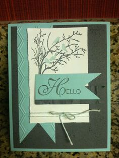 My Stampin' Up! 2013 Convention swap. Serene Silhouettes