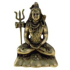 Amazon.com: Lord Shiva Mahadeva Brass Statue Scultpure Hindu Indian: Furniture & Decor