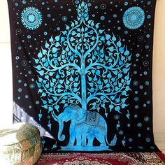 Mesmerizing tapestry crafted in soft woven cotton from Magical Thinking. Instantly adds a unique touch of boho charm to any living space or dorm room. Doubles as a beach or picnic blanket and is festi