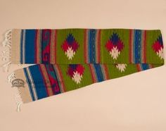 """Southwest Zapotec Indian Table Runner 10""""""""x80"""""""" (a7)"""