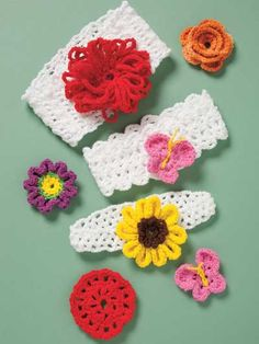 Annie's - Colorful Crochet Baby Headbands