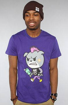 $13 The Dog Fight Tee in Purple by tokidoki - Use repcode SMARTCANUCKS for 10% off on #PLNDR - http://www.lovekarmaloop.com