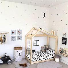 Modern black and white kids room