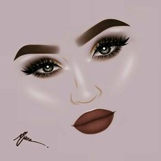 Pinterest: Miryan♓ Makeup Drawing, Makeup Art, Tumblr Drawings, Pencil Drawings, Art Drawings, Cute Wallpaper For Phone, Fashion Sketches, Art Sketches, Pencil Portrait