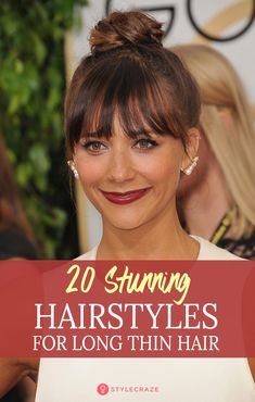 20 Terrific Hairstyles For Long Thin Hair - Hair Styles Hairstyles With Bangs, Straight Hairstyles, Braided Hairstyles, School Hairstyles, Girl Hairstyles, Halloween Hairstyles, Hairstyle Short, Natural Hairstyles, Hairstyle Ideas