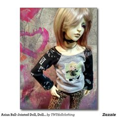 Asian Ball-Jointed Doll, Dollzone Floy Postcard