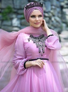 Desert Rose Elbise - Gül Kurusu - Muslima Wear