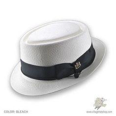 Biltmore for Jaxon Monte Cristi Panama Straw Pork Pie Hat (Bleach) 3949ed896d79