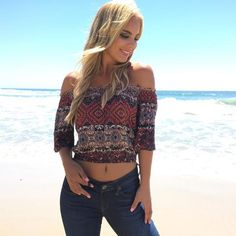 On The Edge Off Shoulder Top