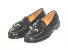 Cole Haan Men's Black Leather Tassel Loafer Slip On Shoe Size 8 D #ColeHaan #LoafersSlipOns