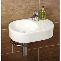 Saville Basin with Towel Rail - cloakroom