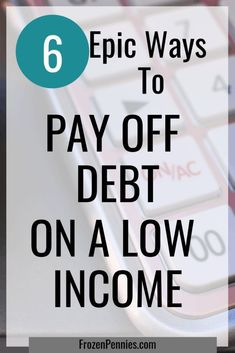 """I have heard people say """"How am I supposed to pay down debt when I can't even pay my bills?"""" To state the obvious, you need more money. Here are five ways to help you pay down your debt or get current on what you owe when you have that low income. Paying Off Student Loans, Student Loan Debt, Planning Budget, Financial Planning, Retirement Planning, Financial Budget, Financial Stress, Paying Off Credit Cards, Financial Peace"""