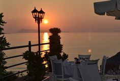 Romantic #sunset.. #DelfinoBlu #Corfu