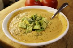 Sweet corn, garlic & tomato soup