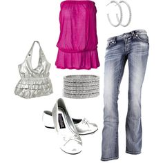Early summer dinner outfit, created by tara-casher on Polyvore