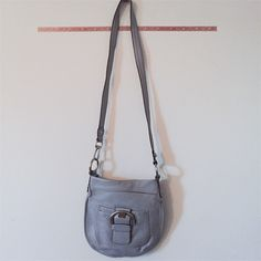 !! B.Makowsky Grey CrossBody Bag !!  Never Used. In great condition. Purchased from QVC. Measurements 11 x 7 x 34.  B.Makowsky  Bags Crossbody Bags