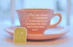 We do love a good cup of #tea! #hearthealthy #funfact