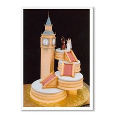Clock Tower of Love.  charm city cakes retro wedding cake   indian pillow wedding cake   victorian mansion wedding cake Clock Tower of Love. The bride and groom were musicians who met in London and moved there after the wedding. They wanted the cake to display their love of music and the city that brought them together.