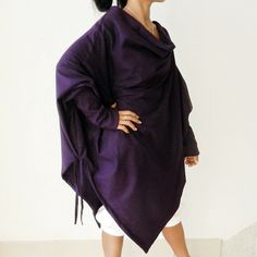 167ddc6453 Poncho Purple Sweater Top  fashion  clothing  shoes  accessories   womensclothing  sweaters
