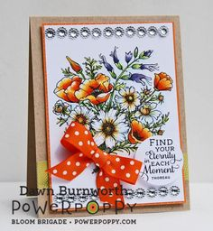 Power Poppy Countryside Bouquet