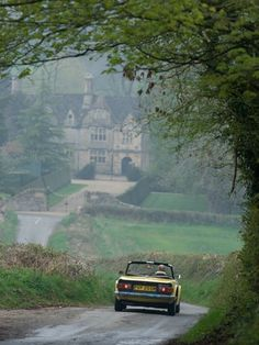 Image result for sports car in English country roads