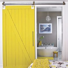 I wonder where you buy the hardware? The sliding door would be easy to make and perfect for the bedrooms.