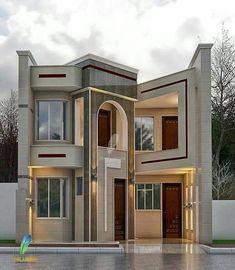 House projects architecture quartos new ideas Modern Exterior House Designs, Modern House Facades, Modern Bungalow House, Modern House Plans, Classic House Design, Unique House Design, Bungalow House Design, House Front Design, Architectural House Plans