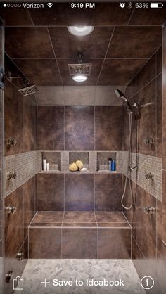 I definitely want a shower with a bench and removable showerhead...