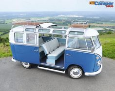 55 Awesome Camper Van Design Ideas for VW Bus Vw Camper Bus, Volkswagen Bus, Volkswagen Transporter, Beetles Volkswagen, Vw Caravan, T3 Vw, Kombi Motorhome, Campers, Vans Vw