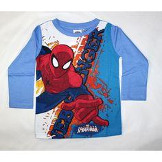 618c86f152 ... Mesefigurás gyerekruhák hatalmas választékban. Gyors szállítás.  Újgyerekruha webáruház · Gyerekruhák fiúknak · Pókember hosszú ujjú póló  világos kék