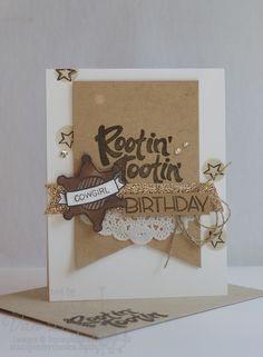 A Rootin' Tooting Birthday card for a special Cowgirl using the Yee-Haw stamp set. www.stampinbythesea.com