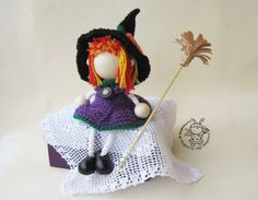 Wood Young Witch doll. Wood  doll. Girl wood doll. by Symplytoys13