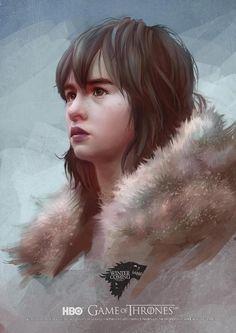Game of Thrones · Bran Stark by Scottshi Bran Stark, Sansa Stark, Game Of Thrones Houses, Game Of Thrones Art, Serial Art, Game Of Trone, The Mother Of Dragons, Lotus Art, Kings Game