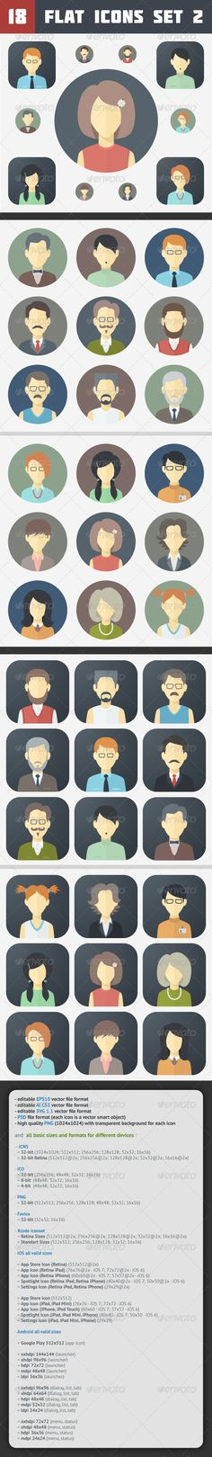 Minimalistic Flat Faces Icons | Buy and Download: http://graphicriver.net/item/minimalistic-flat-faces-icons-set-2/7093110?WT.ac=category_thumb&WT.z_author=MastakA&ref=ksioks