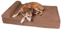 Big Barker 7 Pillow Top Orthopedic Dog Bed - Designer Dog Bed for Large Dogs