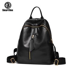 92aa8b258e65 Fashion Women Backpack 2017 New Quality Soft PU Leather Women shoulder bag  College style simple School bag Travel Books Rucksack