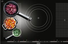 Siemens' red dot success. Siemens' flexinduction cooktop receives a 'dot' at this year's design awards | Induction cooking, that somewhat inexplicable (despite the sound science) process by which the metal of the cooking vessel is heated while the glass top of the hob isn't, is at the cutting edge of kitchen technology.