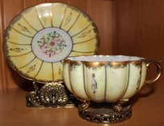 Own this teacup myself...doesn't it look like a pumpkin? Love the sheen of lusterware!