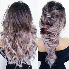 Love this #hair #color #braid #dyedhair #fishtailbraid