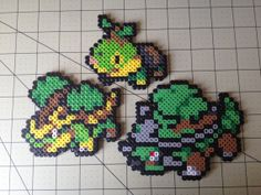 Pokemon Bead Sprite Set  Turtwig Family by ToughTurtles on Etsy, $7.50