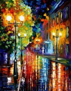 Sweet Rain by Leonid Afremov by Leonidafremov
