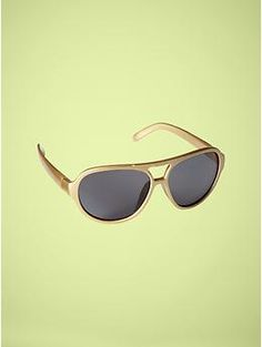 Metallic aviator sunglasses