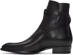 Saint Laurent for Men Collection Mens Shoes Boots, Mens Boots Fashion, Ankle Shoes, Shoe Boots, Men's Shoes, Black Leather Ankle Boots, Black Boots, Safety Toe Boots, Slipper Boots
