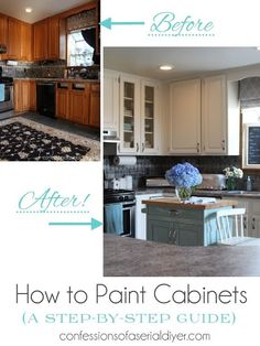 How to Paint Kitchen Cabinets (A step-by-step guide!)